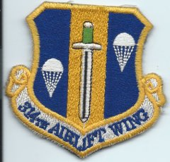 USAF PATCH 314 AIRLIFT WING ON VELCRO
