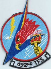 USAF PATCH 492 FIGHTER SQUADRON BRAND NEW HERITAGE OATCHJ ON VELCRO LARGE 5 INCH VERSION RAF LAKENHEATH