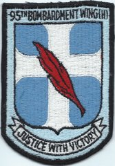 USAF PATCH 95 BOMB WING HEAVY (MH)