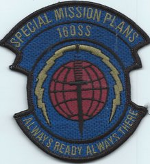USAF PATCH 16 OPERATIONS SUPPORT SQUADRON SPECIAL MISSION PLANS**