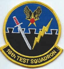 USAF PATCH 16 TEST SQUADRON