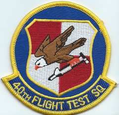 USAF PATCH 40 FLIGHT TEST SQUADRON