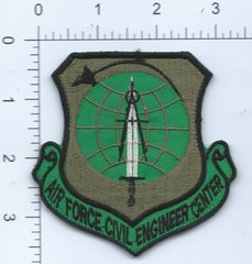 USAF PATCH AIR FORCE CIVIL ENGINEERING CENTER. AFGHAN MADE ON VELCRO