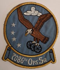USAF PATCH 7086 OPERATIONS SQUADRON RAMSTEIN AFB GERMANY USAFE