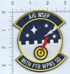 USAF PATCH 86 FIGHTER WEAPONS SQUADRON A/G WSEP