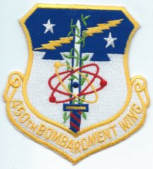 USAF PATCH 450 BOMB WING REPRODUCED (MH)