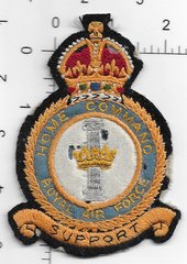 RAF PATCH HOME COMMAND KING CROWN CREST MOTH NIPPED A LITTLE