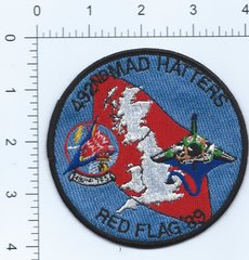 USAF PATCH 492 TACTICAL FIGHTER SQUADRON RED FLAG 1989 RAF LAKENHEATH F-111F ERA