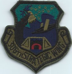 USAF PATCH 306 STRATEGIC WING SUBDUED ON VELCRO RAF MILDENHALL