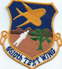 USAF PATCH 6510 TEST WING