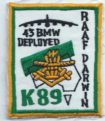 USAF PATCH 43 BOMB WING DEPLOYMENT TO DARWIN AFB AUSTRALIA (MH)