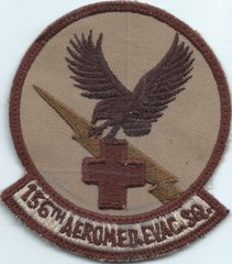 USAF PATCH 156 AEROMEDICAL EVAC SQUADRON QATAR MADE