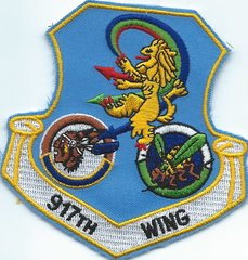 USAF PATCH 917 WING GAGGLE 93 BS & 47 FS TYPE2 (MH)