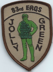 USAF PATCH 83 EXPEDITIONARY RESCUE SQUADRON JOLLY GREEN GIANT**