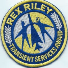 USAF PATCH REX RILEY TRANSIENT SERVICES AWARD UK P&M MADE
