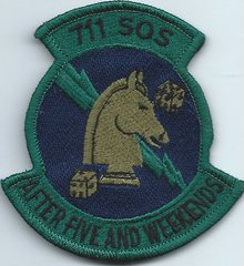 USAF PATCH 711 SPECIAL OPERATIONS SQUADRON