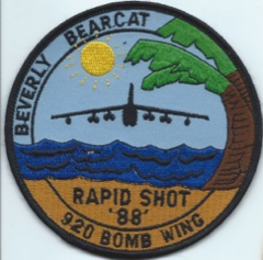USAF PATCH 92ND BOMBARDMENT WING 1988 RAPID SHOT 1988 (MH)
