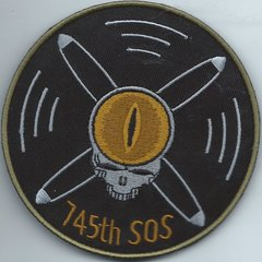 USAF PATCH 745 SPECIAL OPERATIONS SQUADRON (PROV) RC-26**