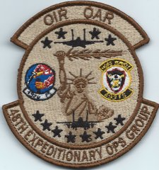 USAF PATCH 48 EXPEDITIONARY OPERATIONS GROUP ON VELCRO PURCHASED FROM THE 492 FIGHTER SQIADROM