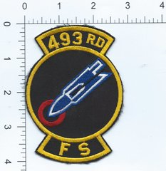 USAF PATCH 493 FIGHTER SQUADRON LATE F-111F ERA RAF LAKENHEATH