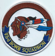 USAF PATCH 93 BOMB SQUADRON BARKSDALE AFB B-52