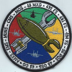 USAF PATCH 48 FIGHTER WING GAGGLE UK MADE ON VELCRO PURCHASED FROM THE 492 FIGHTER SQUADRON