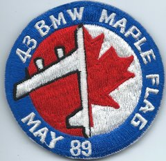 USAF PATCH 43 BOMB WING MAPLE FLAG MAY 1989 (MH)
