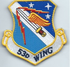 USAF PATCH 53 WING ON VELCRO BASED AT EGLIN AFB