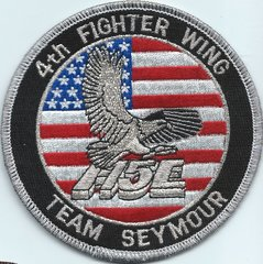 USAF PATCH 4 FIGHTER WING F-15E TEAM SEYMOUR