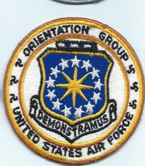 USAF PATCH USAF ORIENTATION GROUP OLD ISSUE