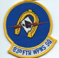 USAF PATCH 83 FIGHTER WEAPONS SQUADRON