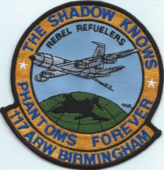 USAF PATCH 117 AIR REFUELING WING ALABAMA ANG