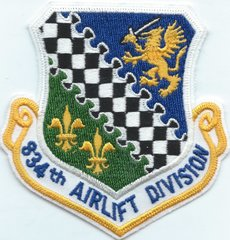 USAF PATCH 834 AIRLIFT DIVISION