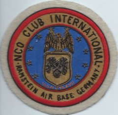 USAF PATCH USAFE SERVICE SQUADRON RAMSTEIN NCO CLUB MANAGEMENT BULLION MADE