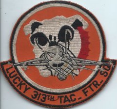 USAF PATCH 313 TACTICAL FIGHTER SQUADRON HAHN AFB F-16