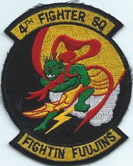 USAF PATCH 4 FIGHTER SQUADRON