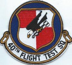 USAF PATCH 40 FLIGHT TEST SQUADRON CUT EDGE