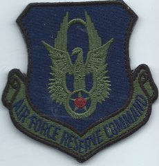 USAF PATCH AIR FORCE RESERVE COMMAND ON VELCRO**
