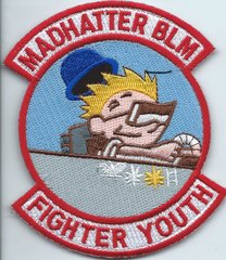 USAF PATCH 492 FIGHTER SQUADRON MADHATTER BLM FIGHTER YOUTH ON VELCRO PURCHASED FROM SQUADRON