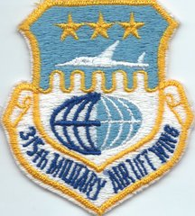 USAF PATCH 315 MILITARY AIRLIFT WING