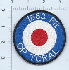 RAF PATCH 1563 FLIGHT OPERATION TORAL AFGHANISTAN KABUL . PATCH IS AFGHAN MADE