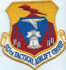 USAF PATCH 913 TACTICAL AIRLIFT GROUP