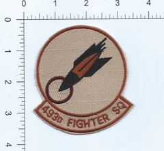 USAF PATCH 493 FIGHTER SQUADRON F-15C ERA RAF LAKENHEATH BOMB INSIGNIA