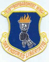 USAF PATCH 319 BOMB WING B-1B (MH)