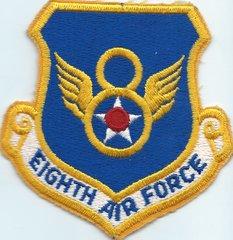 USAF PATCH NICE OLDER 8 AIR FORCE 1970'S 1980'S ERA B-52 BARKSDALE AFB