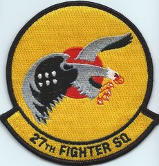 USAF PATCH 27 FIGHTER SQUADRON