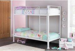 Havana white single metal bunk bed frame