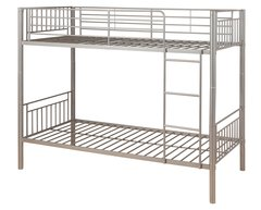 Montreal silver single metal bunk beds