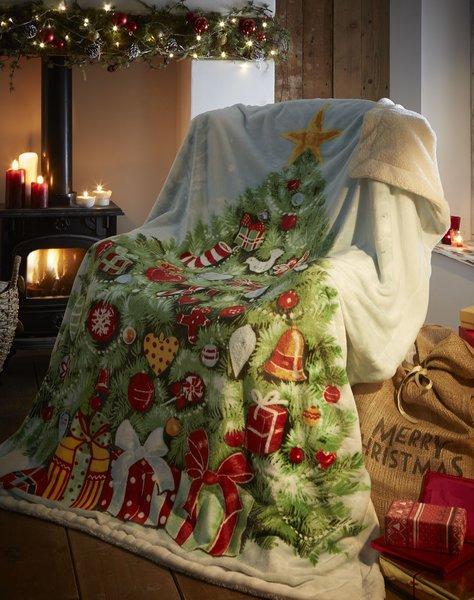 Christmas Tree fleece throw / blanket