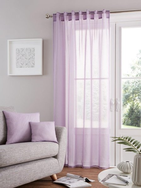 Bali voile heather tab top curtain panel